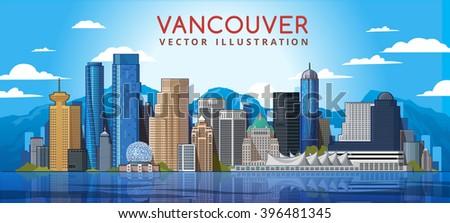 vancouver city skyline canada