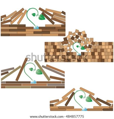 4 various vector illustration