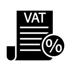 VAT taxes outline vector icon. Value Added Tax simple line illustration sign. inear style sign for mobile concept and web design.