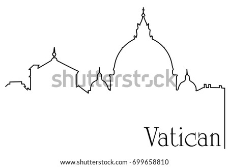 vatican city one line drawing