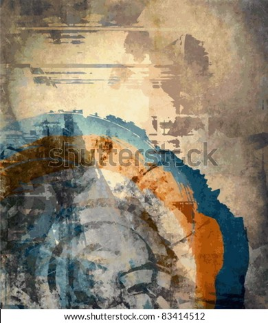Vector abstract art grunge background