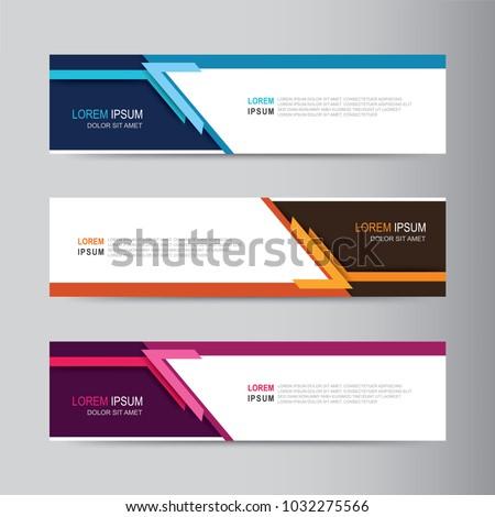 Vector abstract banner design. modern web template #1032275566