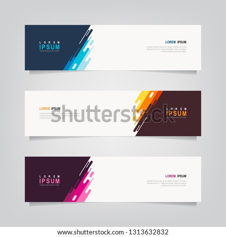 Vector abstract banner design template. Collection of web banner template. Abstract geometric web design banner template. can used for header, footer, layout, letterhed, landing page