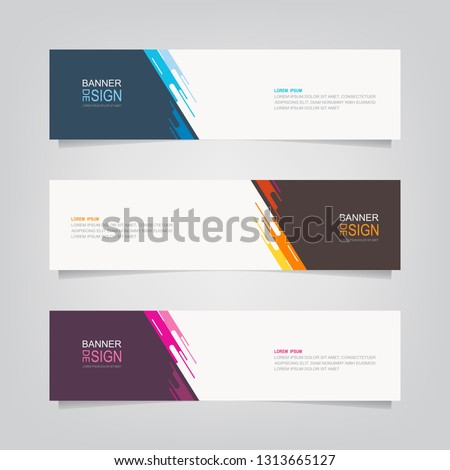 Vector abstract banner design template. Collection of web banner template. Abstract geometric web design banner template. can used for header, footer, layout, letterhed, landing page #1313665127