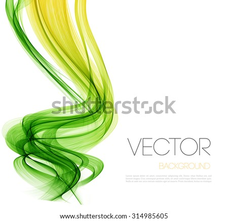 vector abstract  green curved