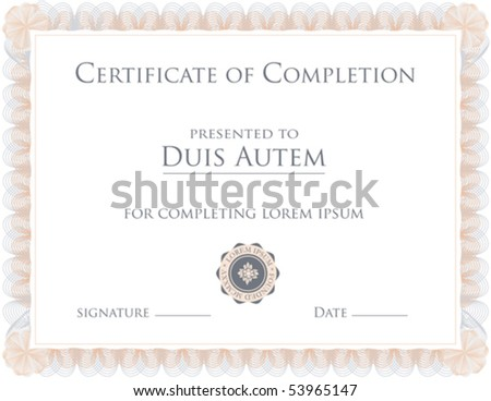 (vector) Award Certificate Template (a jpg version is also available)