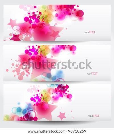 vector background with Abstract stars