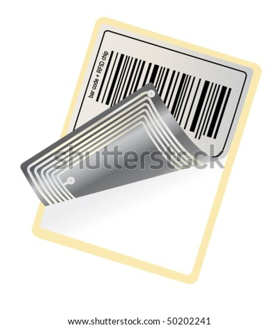 vector bar code with RFID chip