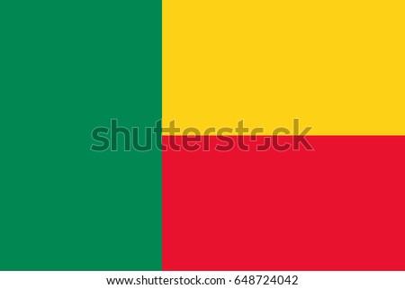 Vector Benin flag, Benin flag illustration, Benin flag picture, Benin flag image