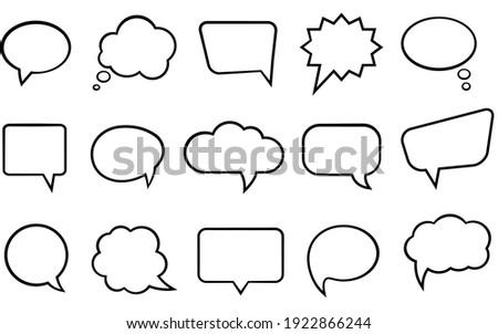 vector black and white speech bubbles