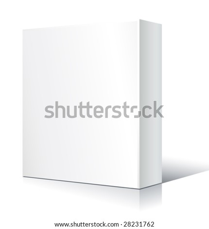 vector blank white box (only gradients)
