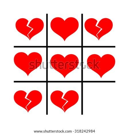 vector card heart cross toe