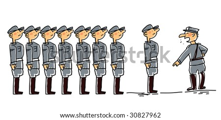 Cartoon related with military man soldiers and or army stock vector