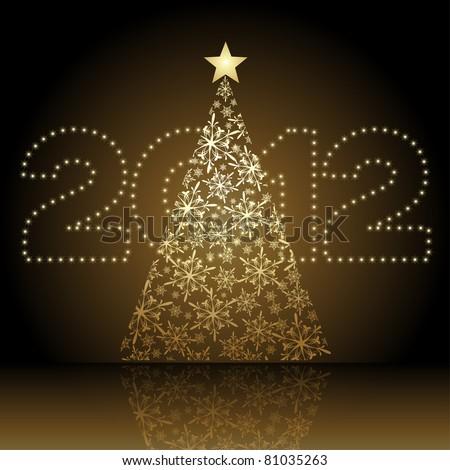 2012 vector christmas tree