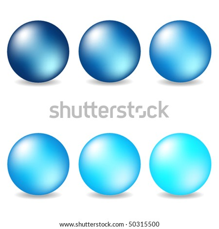 Vector collection of blue pearls