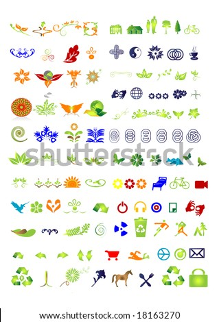 105 Vector  - collection - vector symbols-sign