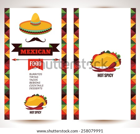 Vintage Mexican Food Menu Template Vector Download Free Vector Art