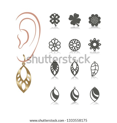 12 vector designs of earring