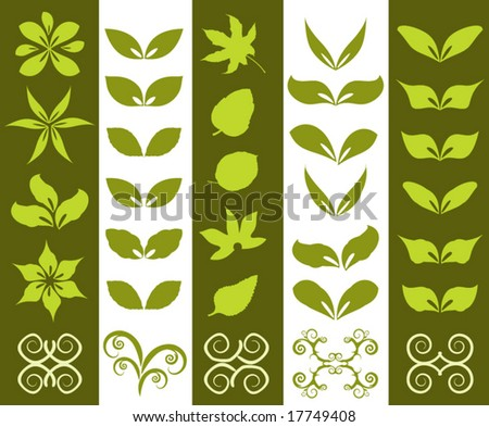 32 vector floral design elements