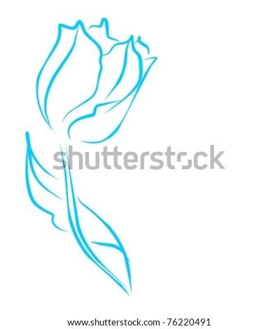 VECTOR  Flower background for design - stock vector