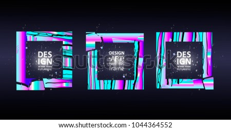 Vector framework for text. Modern graphics for hipsters. abstraction on the background. an element of design of business cards, invitations, gift cards, leaflets and brochures.Eps10 vector #1044364552