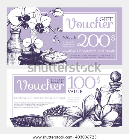 2 vector gift voucher design