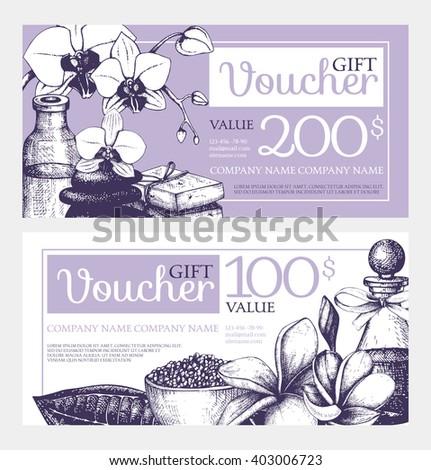2 vector gift voucher design