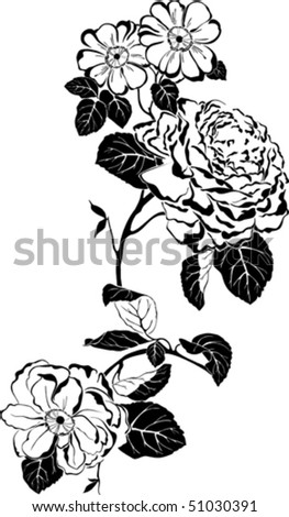 vector graphic of rose with
