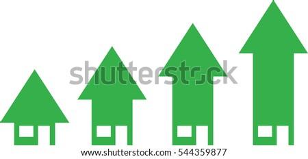 4 vector green arrow house