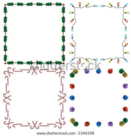 3 vector holiday borders