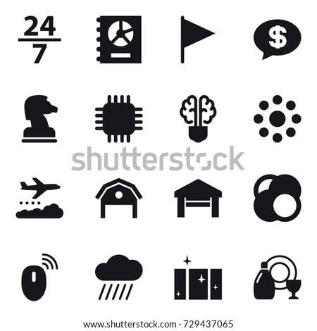 16 vector icon set   24 7