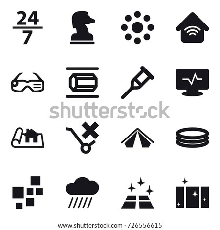16 vector icon set   24 7