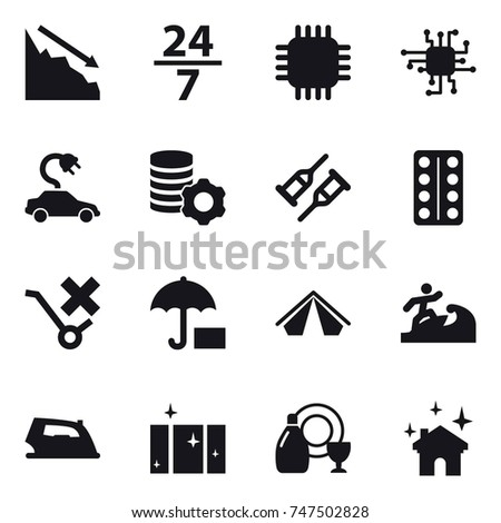 16 vector icon set   crisis  24