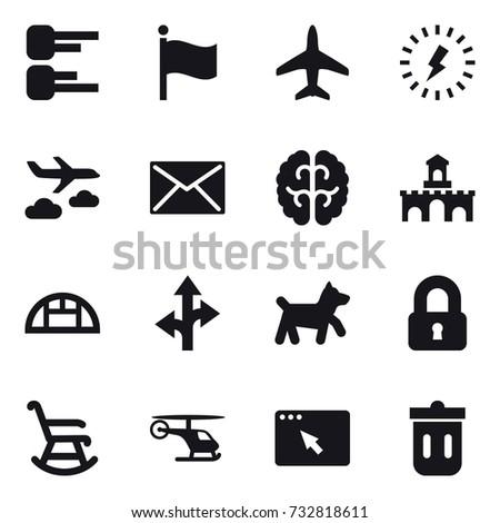 16 vector icon set   diagram
