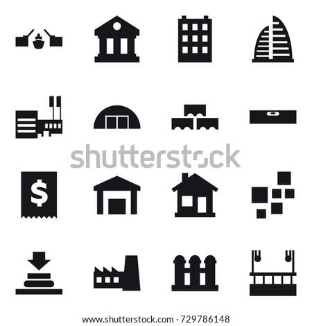 16 vector icon set   drawbridge