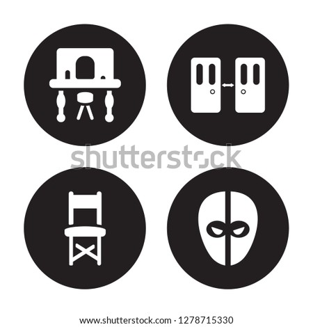 4 vector icon set   dressing