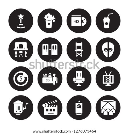 16 vector icon set   film award