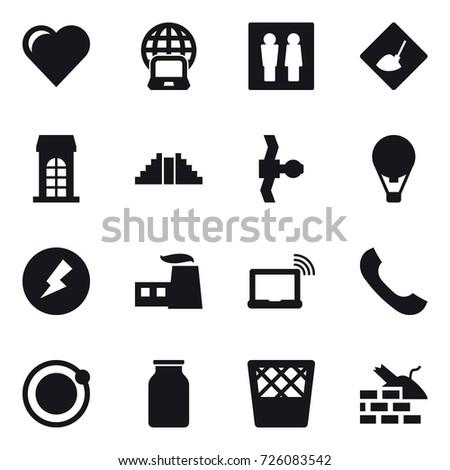 16 vector icon set   heart