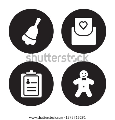 4 vector icon set   jingle bell