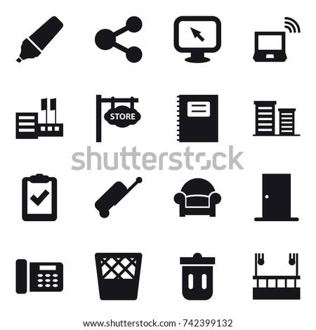 16 vector icon set   marker