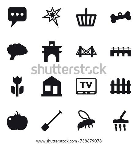 16 vector icon set   message