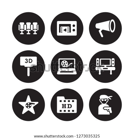 9 vector icon set   movie