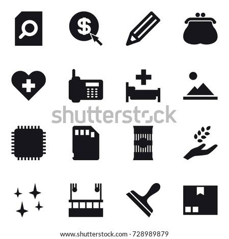 16 vector icon set   search