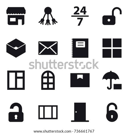 16 vector icon set   shop