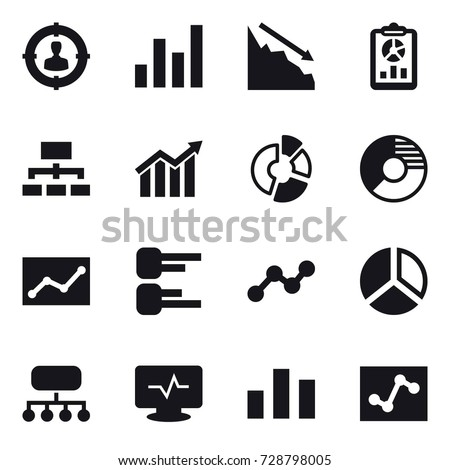 16 vector icon set   target