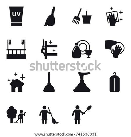 16 vector icon set   uv cream