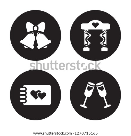 4 vector icon set   wedding