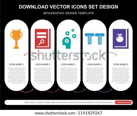 5 vector icons such as big