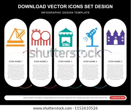 5 vector icons such as boat