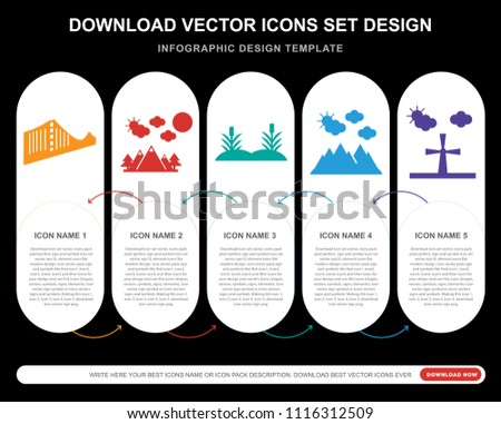 5 vector icons such as bridge